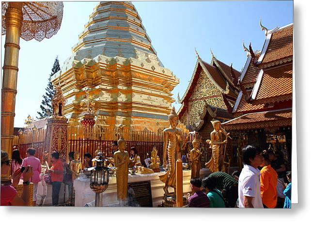 Suthep Greeting Cards - Wat Phrathat Doi Suthep - Chiang Mai Thailand - 011324 Greeting Card by DC Photographer