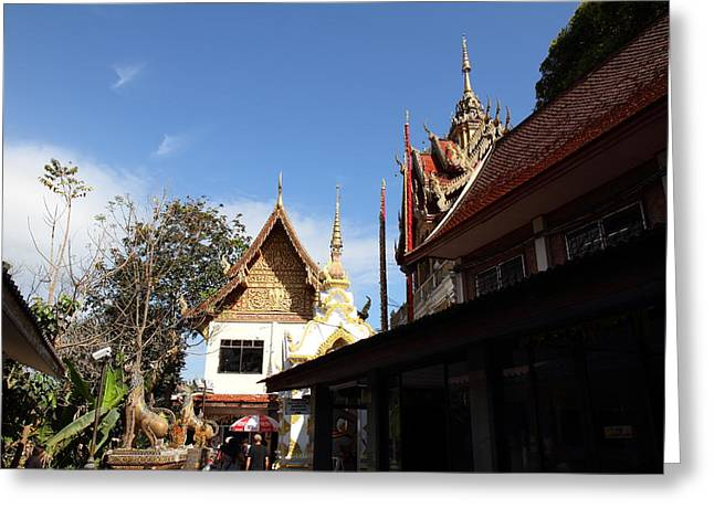 Asia Greeting Cards - Wat Phrathat Doi Suthep - Chiang Mai Thailand - 01134 Greeting Card by DC Photographer