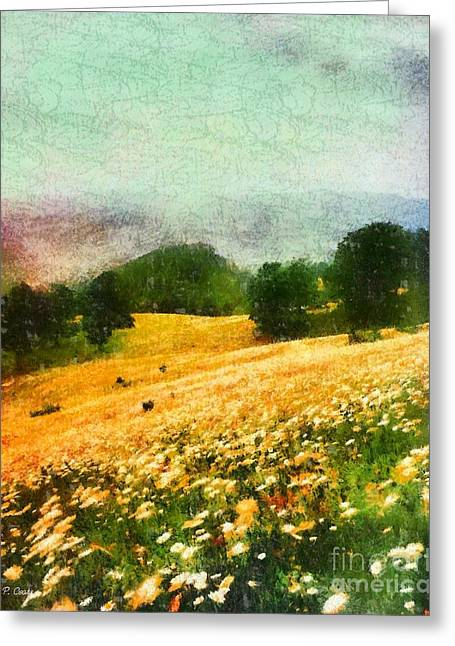 Cades Pastels Greeting Cards - Watauga County North Carolina Greeting Card by Elizabeth Coats