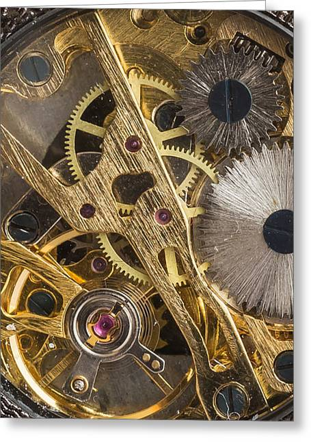 Watches Greeting Cards - Watch Gears Phone Case Aspect Greeting Card by Edward Fielding