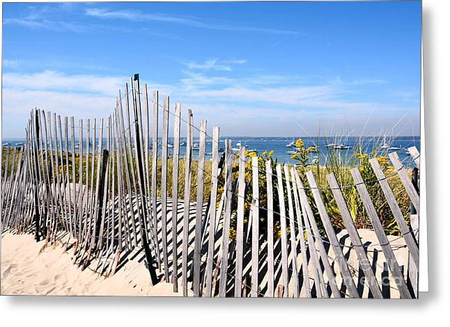 Winter Storm Greeting Cards - Watch Hill Dunes Greeting Card by Lisa Kilby
