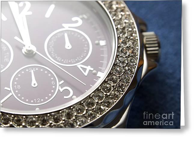 Diamond Bracelet Photographs Greeting Cards - Watch Greeting Card by Sinisa Botas