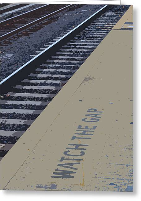 Rail Line Greeting Cards - Watch the Gap Greeting Card by Peter  McIntosh