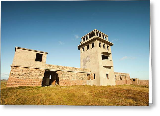 Watch Tower For A Gun Emplacement Greeting Card by Ashley Cooper