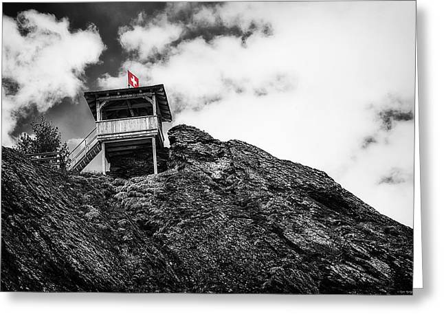 Swiss Greeting Cards - Watch Tower Greeting Card by Ryan Wyckoff