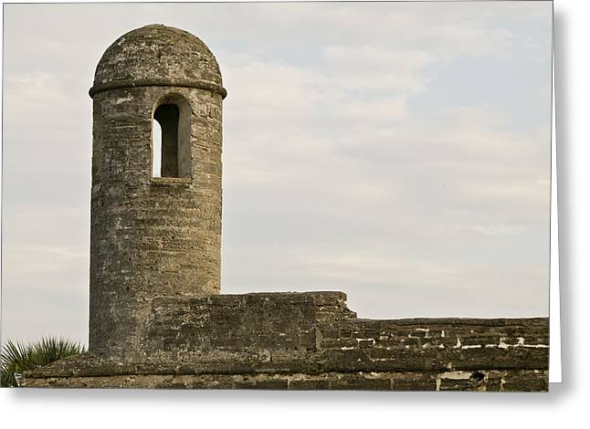 Parapet Greeting Cards - Watch Tower Watching Greeting Card by Rich Franco