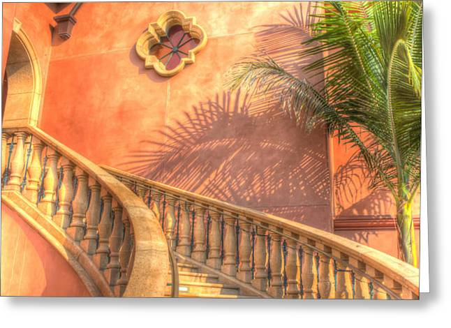 Watch Your Step And Welcome Greeting Card by Heidi Smith