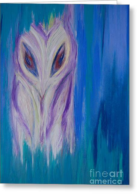 Watcher In The Blue Greeting Card by First Star Art