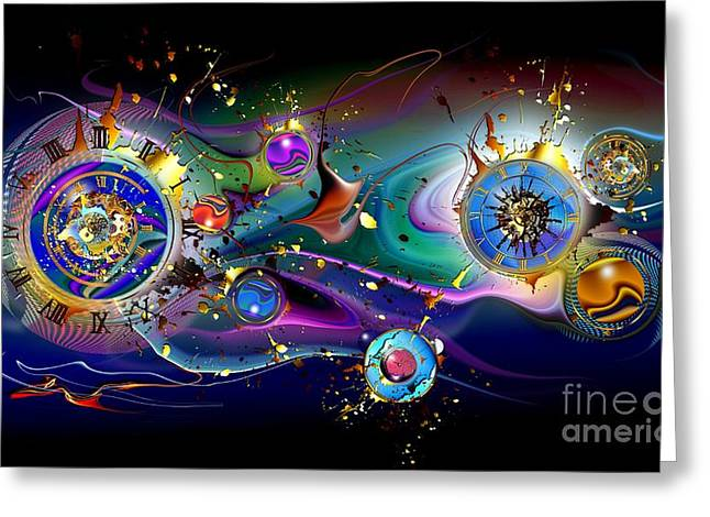 Watches Greeting Cards - Watches in the sky Greeting Card by Franziskus Pfleghart