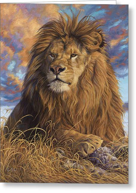 Feline Greeting Cards - Watchful Eyes Greeting Card by Lucie Bilodeau