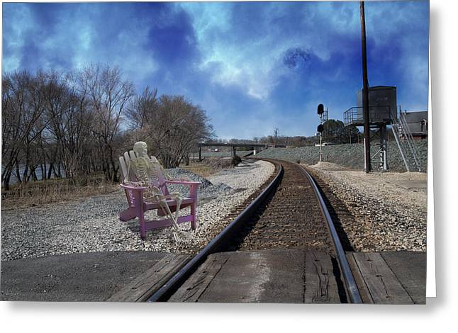 Gravel Road Digital Art Greeting Cards - Watchful in Scottsville Virginia Greeting Card by Betsy A  Cutler