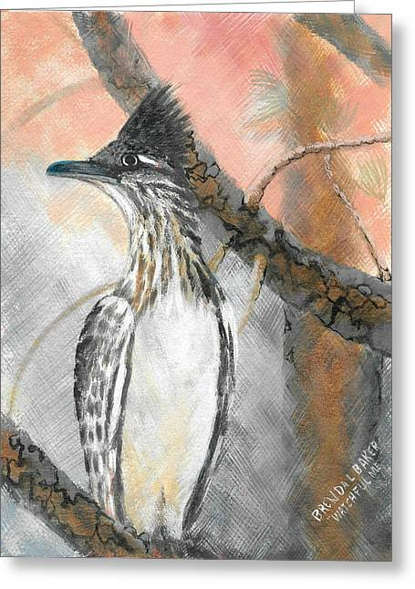Runner Greeting Cards - Watchful Me Greeting Card by Brenda L  Baker
