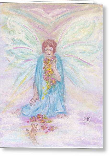 Robe Pastels Greeting Cards - Watching Greeting Card by Desline Vitto