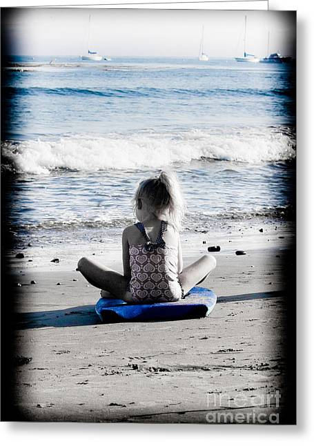 Santa Cruz Surfing Greeting Cards - Watching Greeting Card by George  Saitas