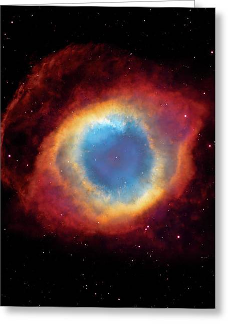 Constellations Greeting Cards - Watching - Helix Nebula Greeting Card by The  Vault - Jennifer Rondinelli Reilly
