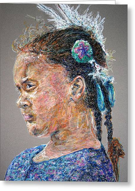 Wow Pastels Greeting Cards - Watching My Elders Greeting Card by Christine Chzasz