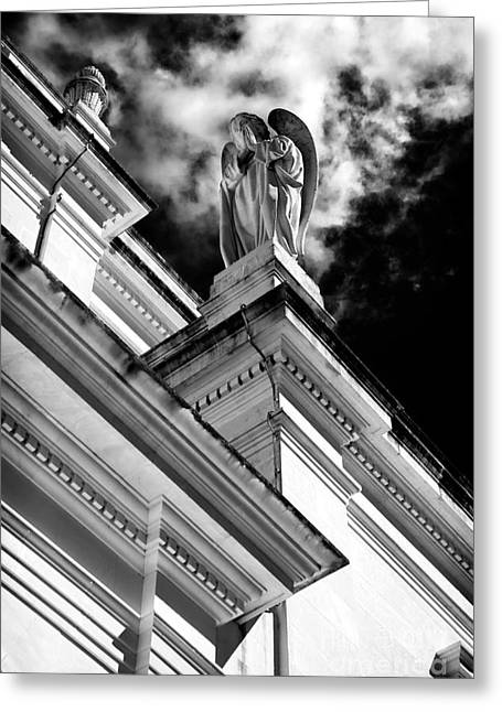 Sculpture For Sale Greeting Cards - Watching Over Fatima Greeting Card by John Rizzuto