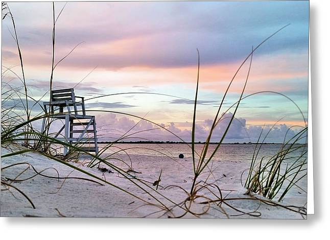 Navel Greeting Cards - Watching over Pensacola Bay Greeting Card by JC Findley