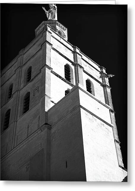 Watching Over Greeting Cards - Watching Over the Papal Palace Greeting Card by John Rizzuto