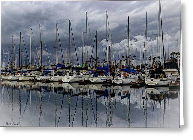 Docked Boat Greeting Cards - Watching The Clouds Drift Greeting Card by Heidi Smith