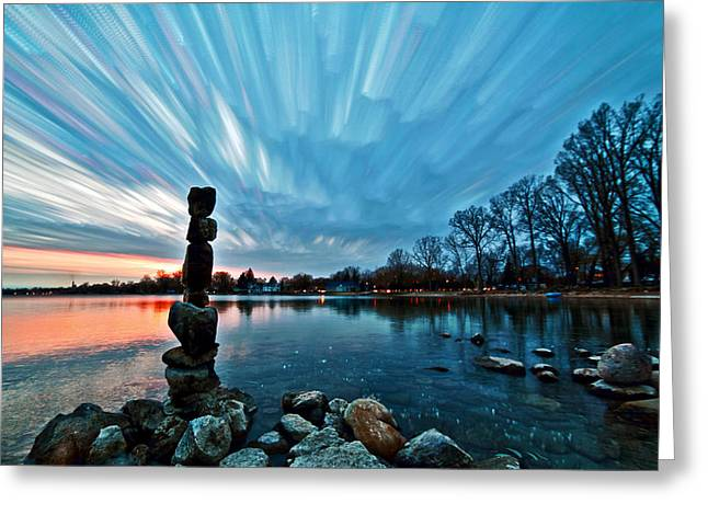 Watching The Clouds Pass Greeting Card by Matt Molloy