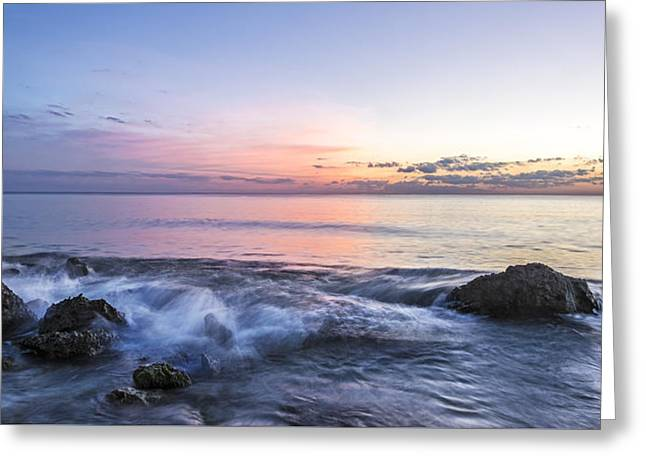 Watching The Last Light Greeting Card by Jon Glaser