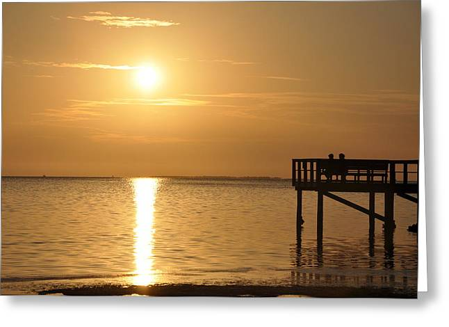 St. Petersburg Greeting Cards - Watching the Sunset Greeting Card by Bill Cannon