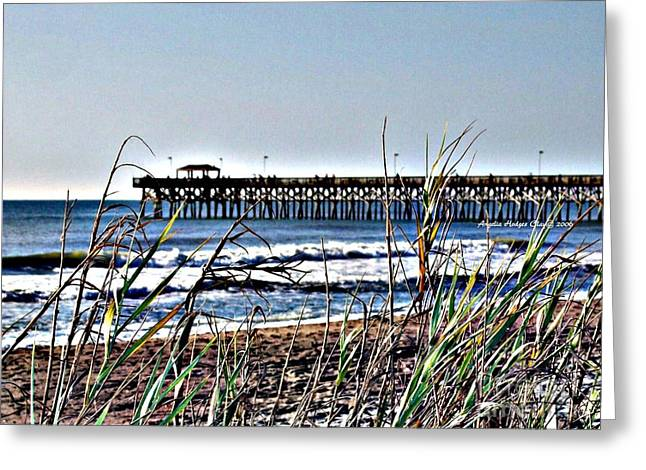 Temperature Greeting Cards - Watching the Tides Roll Away Greeting Card by Angelia Hodges Clay