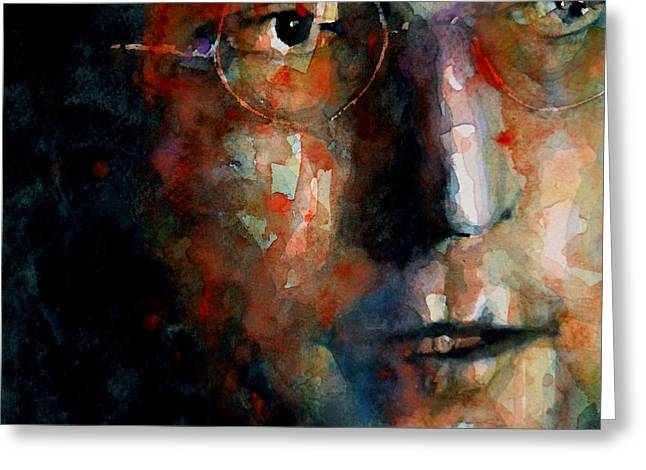 Watching the Wheels Greeting Card by Paul Lovering