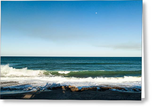 Atlantic Beaches Greeting Cards - Watching Waves at Blowing Rocks Greeting Card by Michelle Wiarda