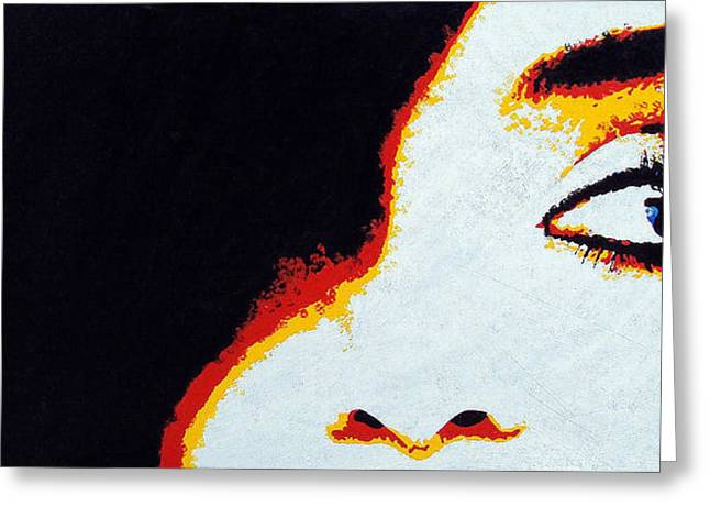 Faa Featured Paintings Greeting Cards - Watching You Greeting Card by Bryan Dubreuiel