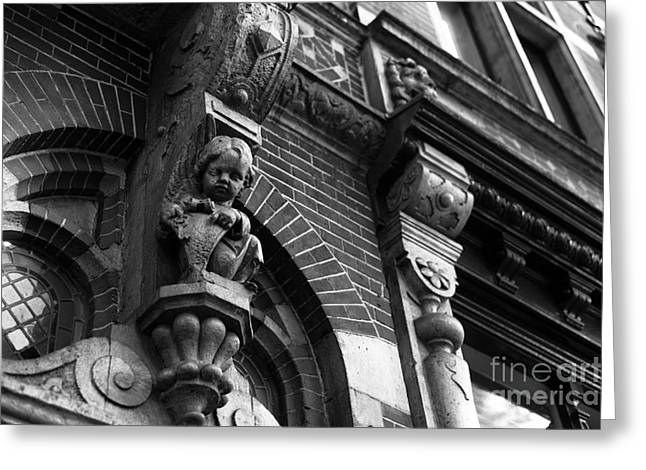 Sculpture For Sale Greeting Cards - Watching You in Amsterdam mono Greeting Card by John Rizzuto