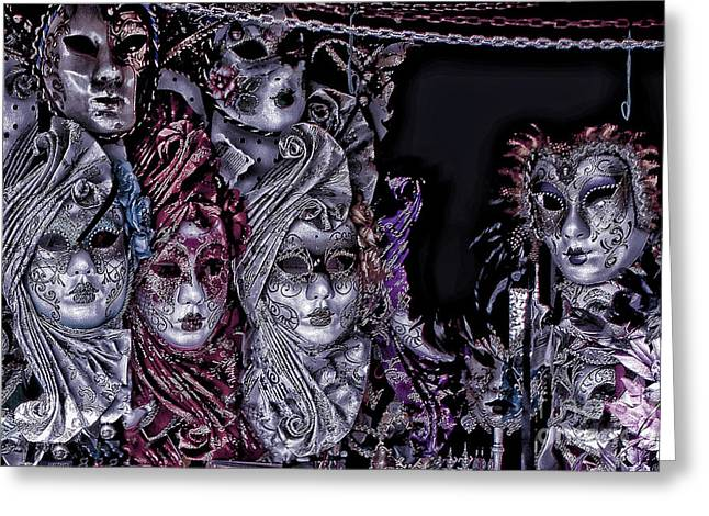Artistic Photography Greeting Cards - Watching You Venice Italy Greeting Card by Tom Prendergast
