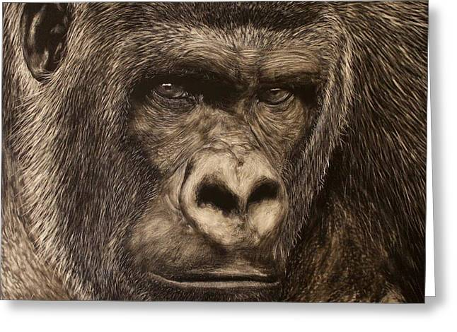 Photorealism Greeting Cards - Watching You Watching Me Greeting Card by Heather Ward