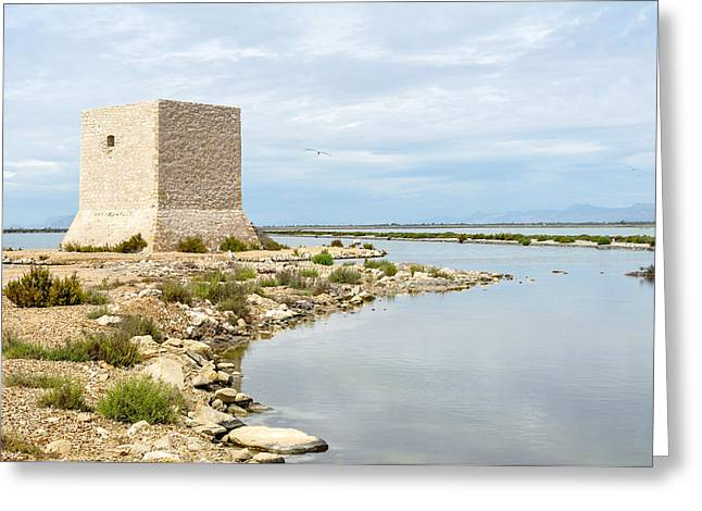 Watchtower In The Salt Lakes Greeting Card by Tetyana Kokhanets
