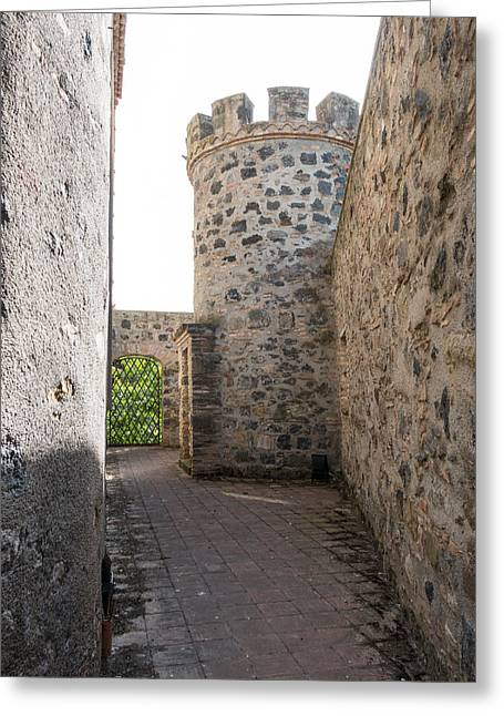 Moat Mountain Greeting Cards - Watchtower Greeting Card by Salvatore Pappalardo