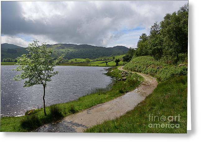 Trout Fishing Greeting Cards - Watendlath Tarn in the Lake District Greeting Card by Louise Heusinkveld