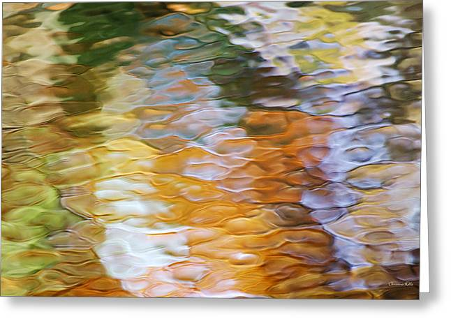 Mosiac Greeting Cards - Water Abstract Greeting Card by Christina Rollo