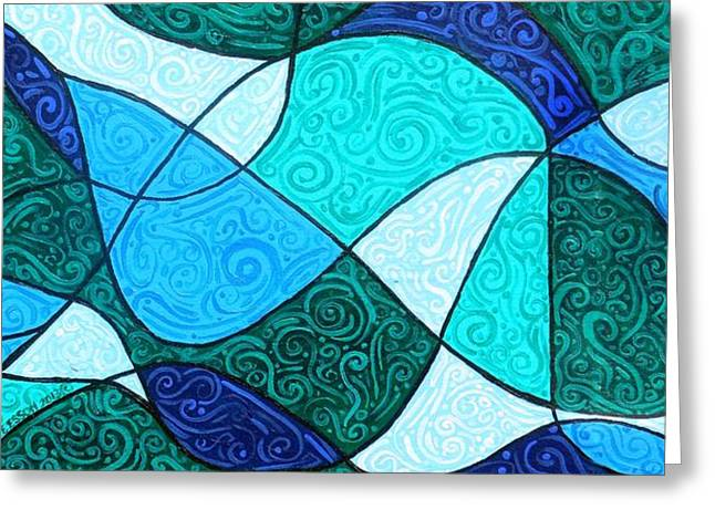 Water Abstract Greeting Card by Genevieve Esson