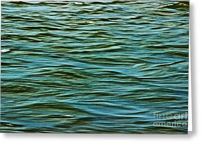 Geometric Effect Greeting Cards - Water Abstract Greeting Card by Tom Gari Gallery-Three-Photography