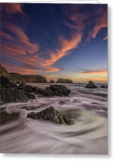 Marin Greeting Cards - Water and Fire Greeting Card by Rick Berk
