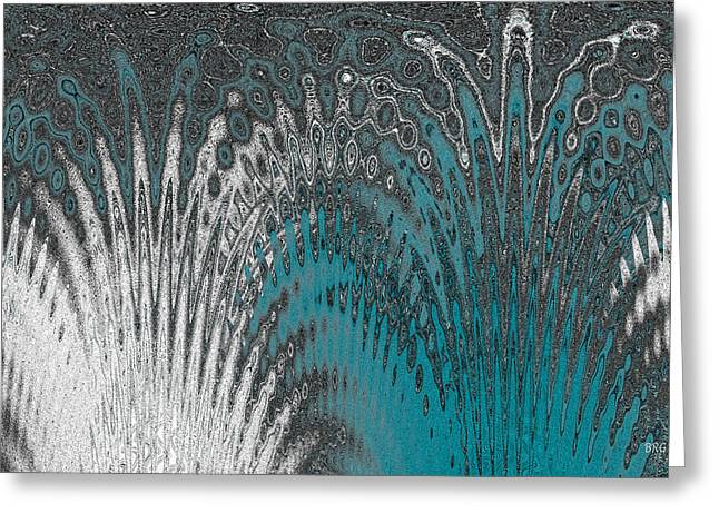 Ben Gertsberg Greeting Cards - Water And Ice - Blue Splash Greeting Card by Ben and Raisa Gertsberg