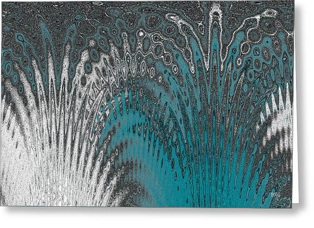 Water And Ice - Blue Splash Greeting Card by Ben and Raisa Gertsberg