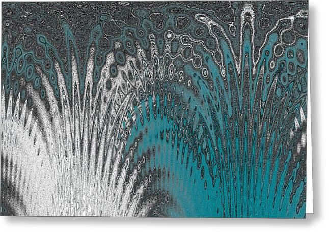 Raisa Gertsberg Digital Art Greeting Cards - Water And Ice - Blue Splash Greeting Card by Ben and Raisa Gertsberg