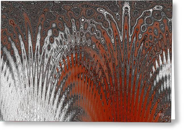 Ben And Raisa Digital Art Greeting Cards - Water And Ice - Red Splash Greeting Card by Ben and Raisa Gertsberg