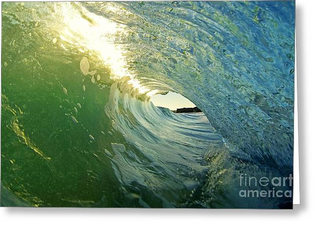 Santa Cruz Surfing Greeting Cards - Water and Light Greeting Card by Paul Topp