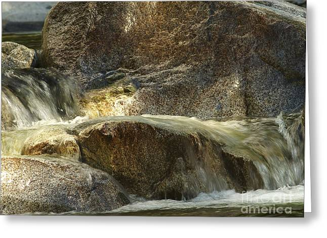 Boulder - Rock Greeting Cards - Water and Rocks 2 Greeting Card by Sharon  Talson