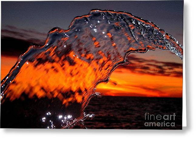 Original Photographs Greeting Cards - Water Art 2 Greeting Card by Donnie Freeman
