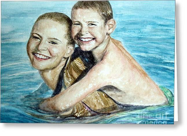 Water Babies Greeting Card by Joey Nash