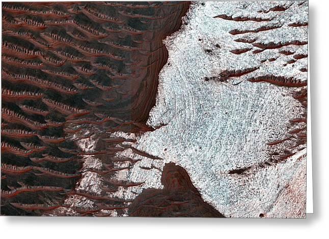 Water-bearing Rocks On Mars Greeting Card by Nasa/jpl-caltech/univ. Of Arizona